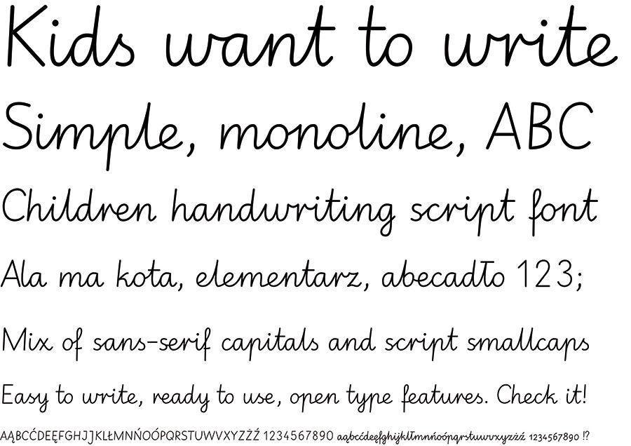 elementari-font-sample