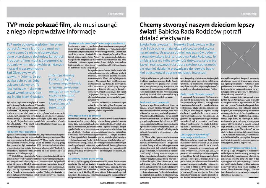gazeta-babicka-newspaper-layout-design